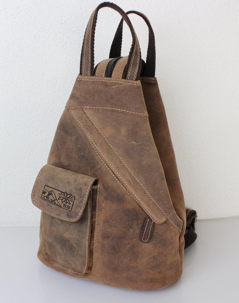 Modestil bestbewerteter Beamter sehr bekannt 2 in 1 Leder Rucksack & Schultertasche von Bayern Bag
