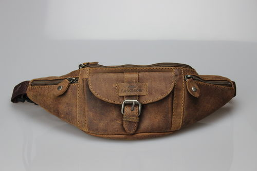 "LandLeder Waist Bag Bum Bag made of cowhide "" Old School """
