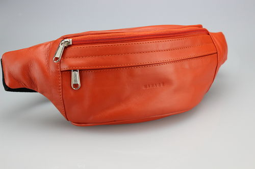 Premium Leder-Gürteltasche von Manage in Orange